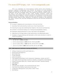 Qtp Sample Resume For Software Testers Best Of Qtp Sample Resume