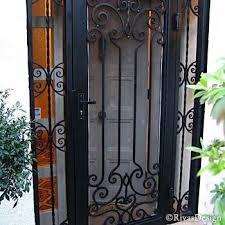exterior security door. wrought iron doors | security exterior door e