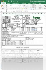 call sheet template excel free call sheet template in excel