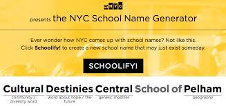 WNYC School Name Generator WNYC