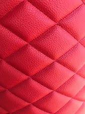 Camel Quilted Vinyl Fabric With 3 8 Foam Backing Upholstery by The ... & RED CHAMPION QUILTED VINYL FABRIC WITH 3/8