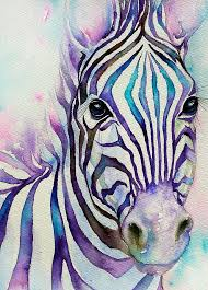 zebra painting turquoise stripes zebra by arti chauhan
