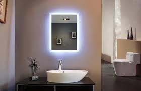 Image Powder Room Orlandaztecscom Behind Mirror Lighting Bright Led Large Illuminated Bathroom