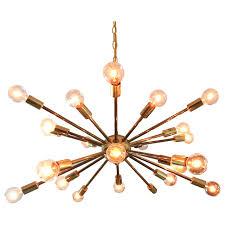 vintage american midcentury brass sputnik chandelier 1