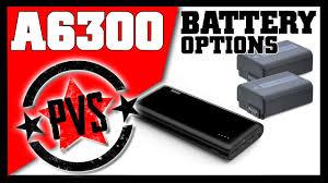 <b>Sony</b> A6300 Battery Options - YouTube