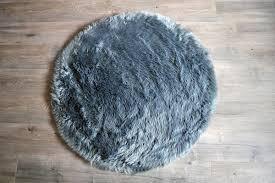 machine washable faux sheepskin grey round area rug round sheepskin rug nursery