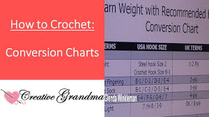 Crochet Needle Size Chart Yarn Weight And Hook Size Conversion Chart Reference Guidelines Plus Sizing Charts