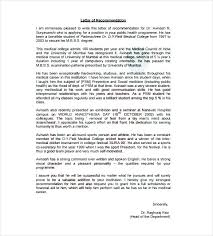 Personal Reference Letter For Student Doctors Recommendation Letter Example Writing A Self