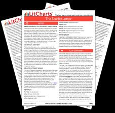 the printed pdf version of the litchart on the scarlet letter