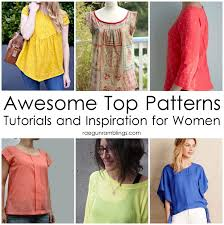 Blouse Sewing Pattern Enchanting Awesome Tops Sewing Patterns And Inspiration And The Return Of Sew
