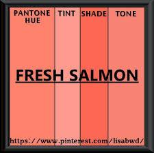 Pantone Seasonal Color Swatch Fresh Salmon In 2019 Pantone