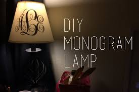 monogrammed lamp shade french gray blue shades custom monogram