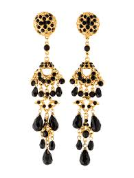 black and gold chandelier earrings w4x20166 1 enlarged simple