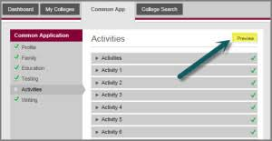 common application activities section strategies common application activities preview