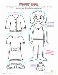 Small Picture Paper Doll Dress Up Worksheet Educationcom