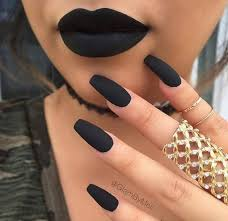 long matte black the ultimate long nail design