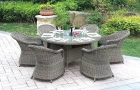 round outdoor table setting piece outdoor dining set round table cast aluminum patio sets 5 piece
