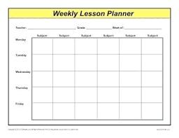 Free Lesson Plan Templates For Kindergarten Teachers Weekly