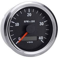 marine vision chrome rpm tachometer hour meter vdo marine vision chrome 4000 rpm tachometer hour meter