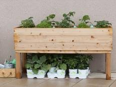 How to Build an Elevated Wooden Planter Box 24 Photos