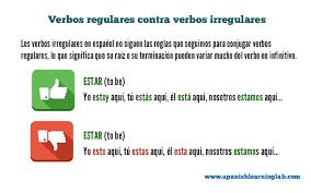 Common Spanish Irregular Verbs List And Sentences