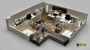 modern floor plans. Modern Residential 3D Floor Plan Design Plans