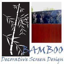 an oriental garden screen the bamboo