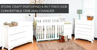 storkcraft 4 in 1 crib stork craft 4 in 1 fixed side convertible crib and changer