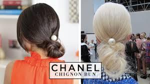 Chanel Hair Style chanel chignon bun hair tutorial youtube 2250 by stevesalt.us