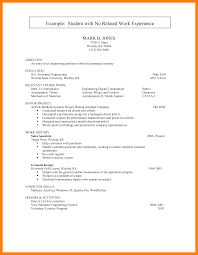 Resume For Someone With No Work Experience 24 First Cv No Work Experience Points Of Origins 9