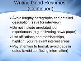 Job Search Resume Writing And Interview Skills Ppt Download