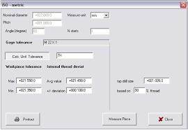 Plug Gauge Tolerance Chart Microrep Calcall