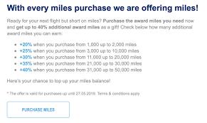 Aegean Airlines Award Chart Aegean Miles Bonus Buy Miles 40 Bonus Samchui Com