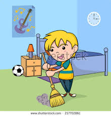 clean kitchen table clipart. child cleaning the bedroom, vector illustration clean kitchen table clipart