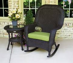outstanding outdoor furniture decor with five piece wicker rocker