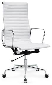 white leather office chair. Exellent Chair Alluring White Modern Desk Chair Leather Office Home On T