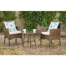 3 piece outdoor rattan garden furniture
