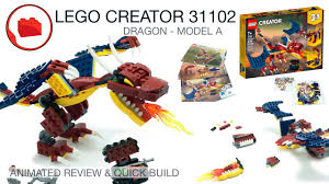 <b>LEGO CREATOR</b> 31102 Fire Dragon 3 in 1 2020 - Review & Quick ...