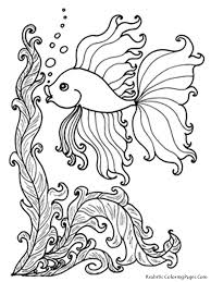 Adult Coloring Page Free Fish Pages In For Adults - glum.me