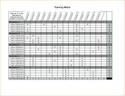 Scheduling Matrix Template 013 Employee Training Matrix Template Excel Free Download