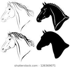 horse head clipart. Unique Horse Vector Illustration Of Horse Head Clipart Set With Horse Head Clipart S