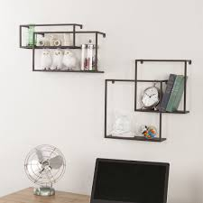 zyther metal wall shelves (set of )  froy