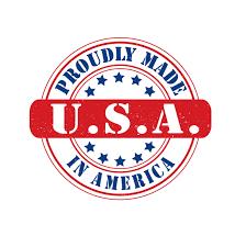 Made in USA Logo Design — Vector, Royalty-Free