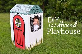 diy cardboard playhouse project nursery