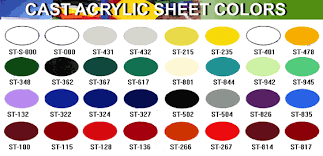 acrylic sheet thickness chart cast acrylic sheet colours holland plastics plastic fabrication