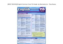 Best Books English Common Core 7th Grade By Barcharts Inc