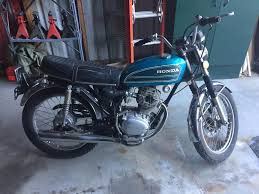 1975 honda cb125 cheap and easy brat they said that when it runs it runs well i don t know but it has good compression in pretty good shape has a title and came a new wiring harness
