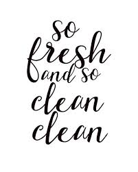 printable bathroom sign. So Fresh And Clean Clean, Bathroom Wall Art, Print, Decor, Sign, Printable Quote Sign