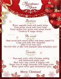 christmas menu borders christmas menu template word best idea free xmas on free christmas