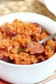 one pot sausage and red rice diary of
